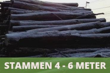 brandhout stammen 4 - 6 meter