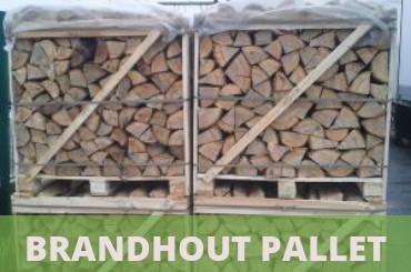 brandhout op pallet